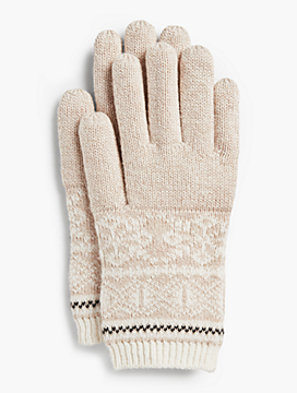 Reindeer Fair Isle Gloves