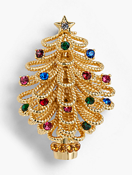Holiday Tree Brooch