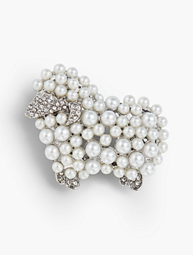 Holiday Brooch Collection - Pearl Sheep