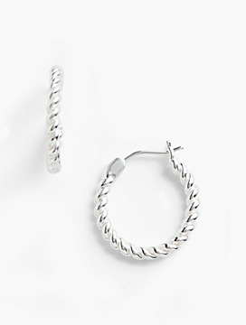 Rope Earrings - Sterling Silver
