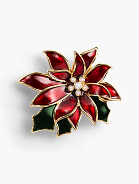Holiday Brooch Collection - Poinsettia