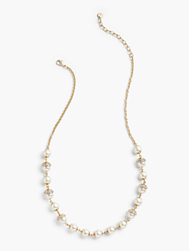 Pearl Droplet Long Necklace