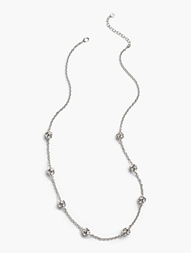 Long Crystal Spheres Necklace