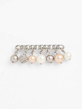 Mixed-Pearl Brooch
