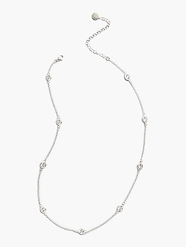 Sterling Silver Delicate Glass Necklace