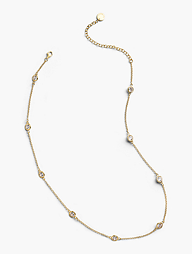 Delicate Glass Necklace - 14K Gold Plated