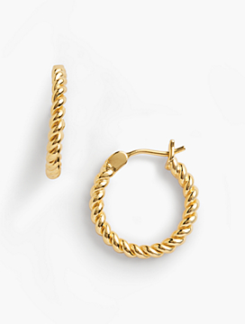 Rope Earrings  - 14K Gold-Plated