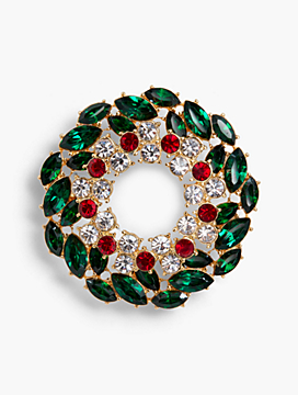 Holiday Brooch Collection - Wreath