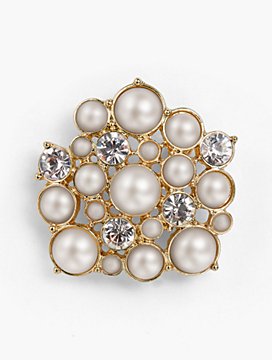 Holiday Brooch Collection - Pearl and Crystal