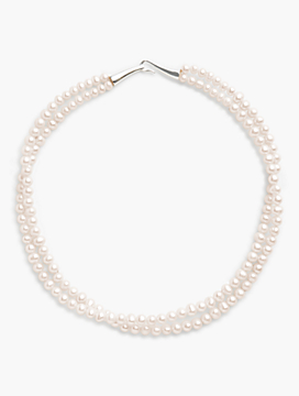 Double-Strand Freshwater Pearl Necklace