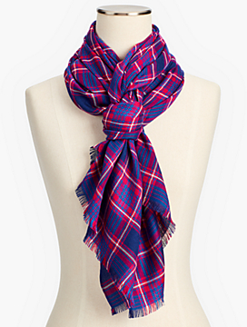 Bias Plaid Scarf