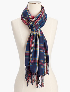 Yarn-Dyed Plaid Scarf