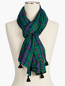 Dotted Plaid Scarf