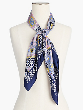 Tiles Silk Square Scarf