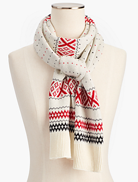 Fair Isle Winter Scarf