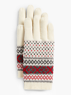 Fair Isle Winter Touch Gloves