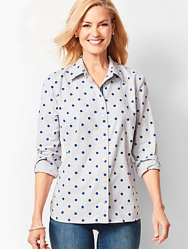 Classic Cotton Shirt - Blue Dot
