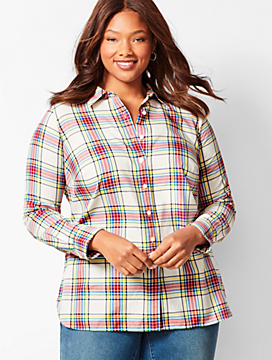 Classic Cotton Shirt - Lumiere Plaid