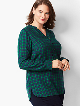 Plaid Cotton Popover