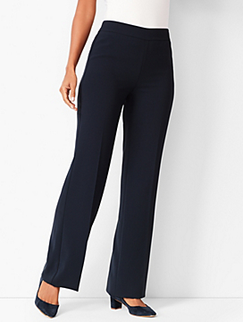 Easy Travel Suiting Wide-Leg Pants