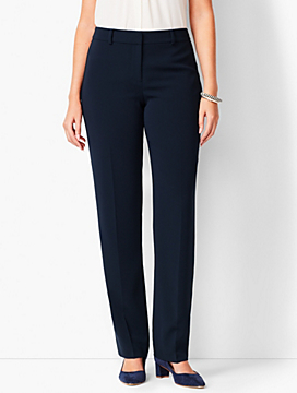 Easy Travel Straight-Leg Pants - Curvy