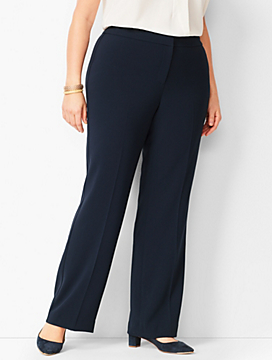 Plus Size Easy Travel Suiting Wide-Leg Pants