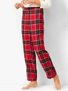 Drawcord Pajama Pant - Yarn-Dyed Tartan Plaid