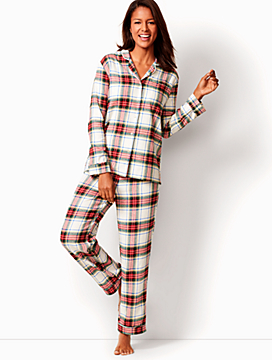 Flannel Tartan-Plaid Sleep Set