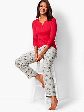 Pajama Set - Flannel Holiday-Print