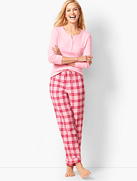 Pajama Set - Flannel Glen Plaid