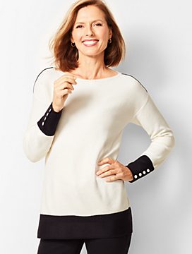 Colorblocked Boatneck Sweater