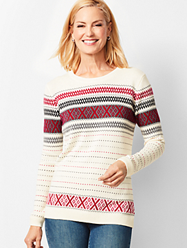 Crisscross Fair Isle Sweater