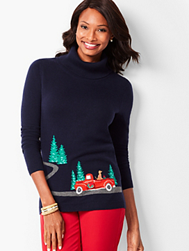 Novelty Cowlneck Sweater