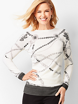 Merino Jewel-Print Sweater