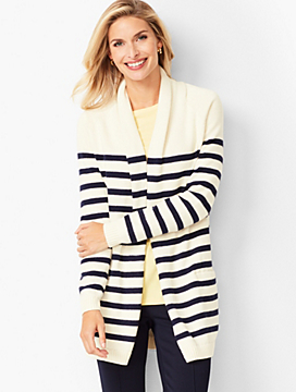 Shawl-Collar Duster - Stripe