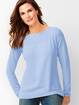 Ribbed-Yoke Sweater