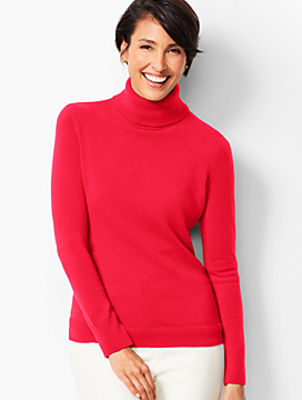Cashmere Turtleneck Sweater - Solid