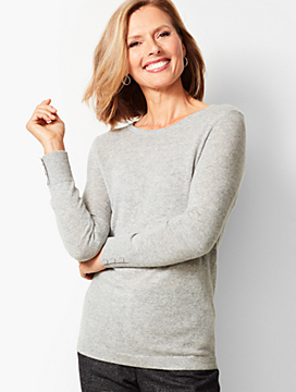 Cashmere Crewneck Sweater - Solid