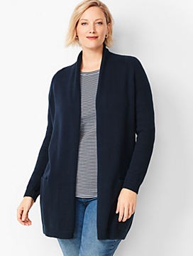 Plus Size Exclusive Shawl-Collar Duster