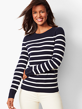 Cashmere Crewneck Sweater - Stripe