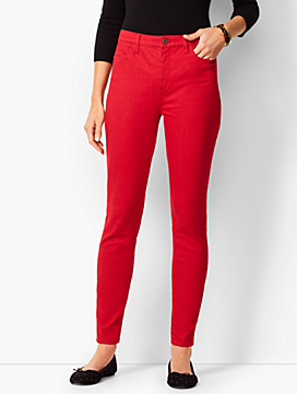 Denim Jeggings - Classic Red