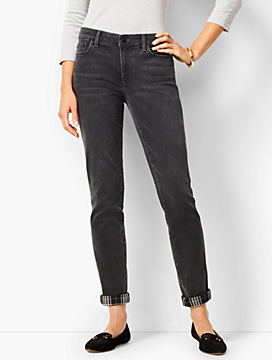 Girlfriend Jeans - Angela Wash - Flannel Cuff
