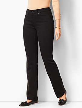 High-Rise Barely Boot Jeans - Curvy Fit/ Black Wash
