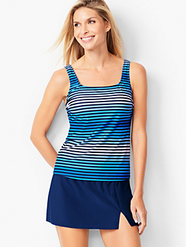 Miraclesuit® Scoop-Neck Tankini Top- Ombre Stripe