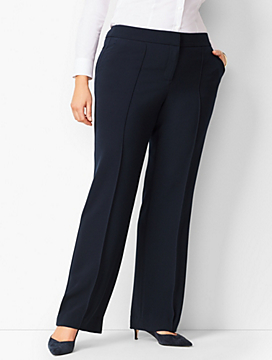 Crepe Wide-Leg Trousers