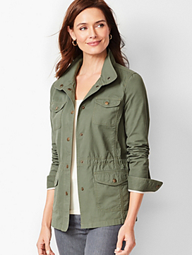 Casual Drawcord Jacket - Cotton