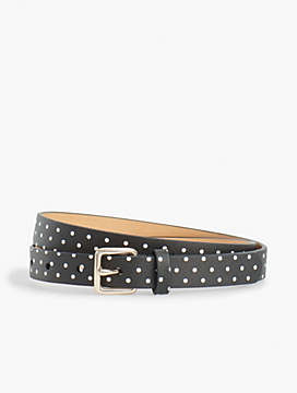 Dot Faux-Leather Belt