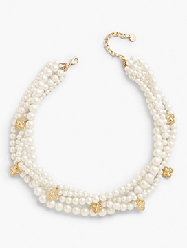 Faux-Pearl Multi-Strand Necklace