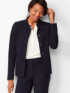 Italian Luxe Knit Four-Button Jacket