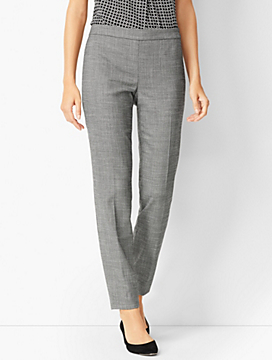 Westport Textured Slim Ankle Pants